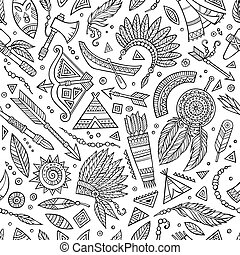 Tribal native ethnic seamless pattern - Tribal abstract...