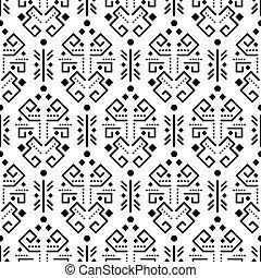 Tribal ornament seamless vector pattern.