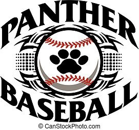 panther baseball - tribal panther baseball team design with...