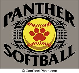 panther softball - tribal panther softball team design with...