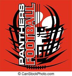 panthers football - tribal panthers football team design...