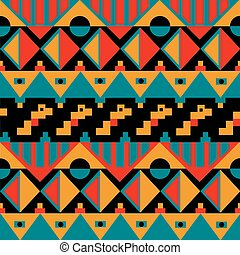Tribal pattern - a tribal seamless pattern