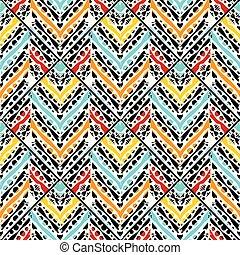 tribal, pattern., seamless, ziguezague, vetorial, étnico