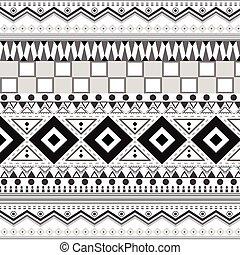 tribal, patterns., seamless, étnico