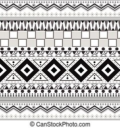 tribal, patterns., seamless, ethnique