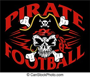 pirate football - tribal pirate football team design with...