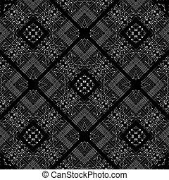 tribal, pretas, padrão, geomã©´ricas, branca