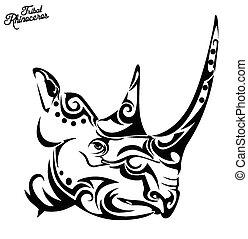 Tribal rhino