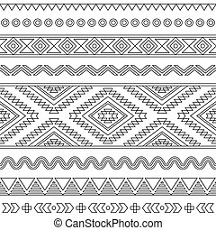 Tribal seamless Aztec pattern