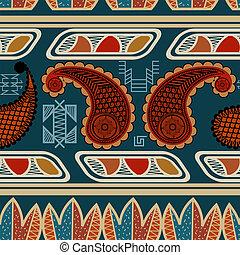 Tribal seamless ethnic pattern. vector illustration