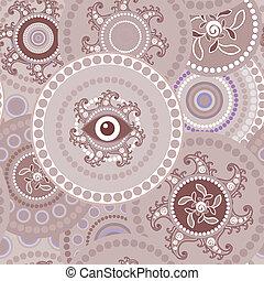 Tribal seamless paisley texture
