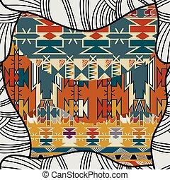 Tribal seamless pattern. Vector