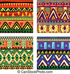 tribal, seamless, textura