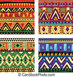tribal, seamless, textura