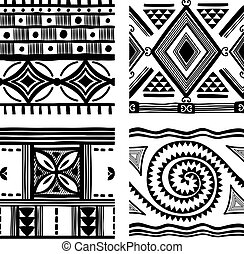 tribal, seamless, texture