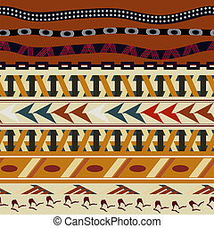 Tribal seamless texture in the African style