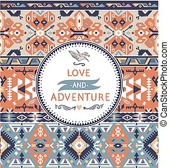 Tribal seamless vintage pattern with geometric elements
