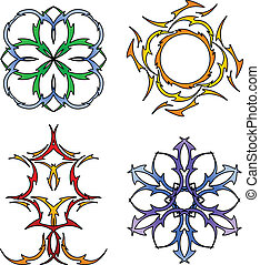 Tribal season symbols - Four season symbols in tribal tattoo...