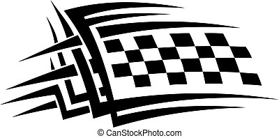 Tribal sports tattoo for racing concept design