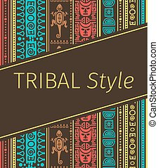 Tribal style design in brown colors