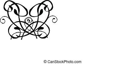 Tribal Swirl Heart Tattoo Vector