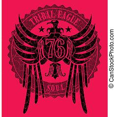 tribal tattoo eagle vector art