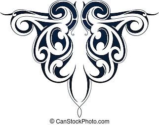 Tribal tattoo Maori origin