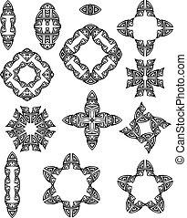 Tribal Tattoo Set Vector Art