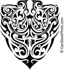 Tribal tattoo shape