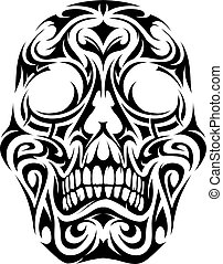 Tribal tattoo skull