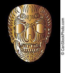 tribal tattoo skull vector art