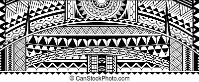 Tribal tattoo sleeve ornament