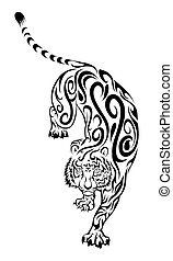Tribal tiger tattoo