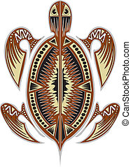 Tribal tortoise - A tribal tortoise design.