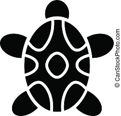 Tribal turtle icon, simple style
