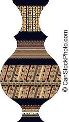 tribal, vase