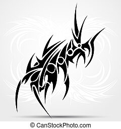 tribal, vecteur, tattoo., illustration.