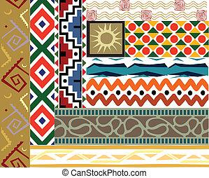 Tribal vector pattern set - Tribal border pattern. Vector...