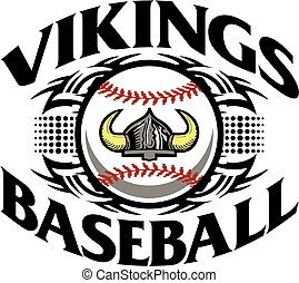 tribal vikings baseball team design for school, college or league
