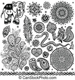 Tribal vintage ethnic pattern set illustration for your...