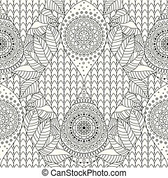 Tribal vintage ethnic seamless pattern