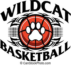 wildcat basketball - tribal wildcat basketball team design ...
