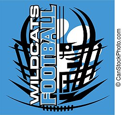 wildcats football - tribal wildcats football team design...