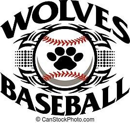 wolves baseball - tribal wolves baseball team design with ...