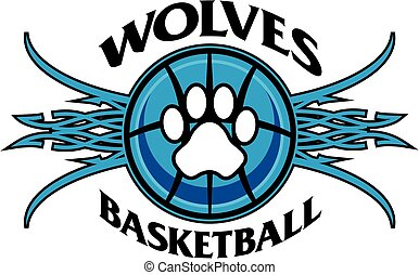 wolves basketball - tribal wolves basketball team design ...