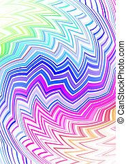 tribal zig zag subtle - Tattoo inspired rainbow background ...