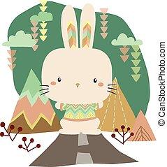 tribale, coniglietto