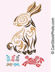 tribale, coniglio