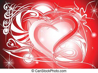 tribale, valentina, cuore