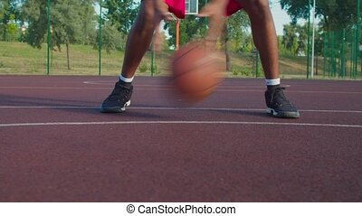 tribunal, basketnball, formation, joueur, extérieur